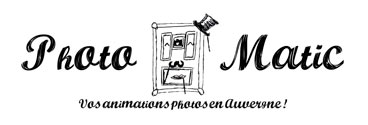 Photo-matic / Location borne photobooth, borne à selfie Auvergne Logo